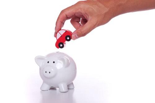 מכונית ביד של אדם