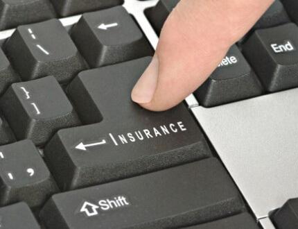 אדם רוכש פולסית ביטוח באינטרנט